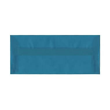 JAM Paper® #10 Business Envelopes, 4 1/8 x 9.5, Aqua Blue Translucent Vellum, 500/Pack (PACV364H)