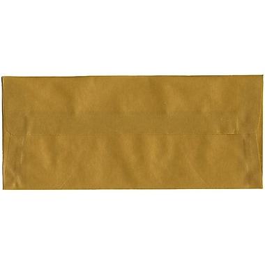 JAM Paper – Enveloppes nº 10 (4,13 x 9,5 po) en papier vélin translucide, doré, boîte de 500