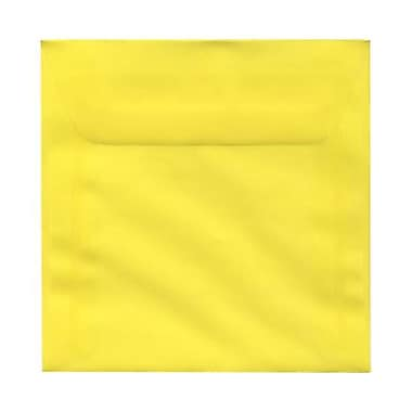 JAM Paper® 6.5 x 6.5 Square Envelopes, Yellow Translucent Vellum, 50/Pack (PACV526I)