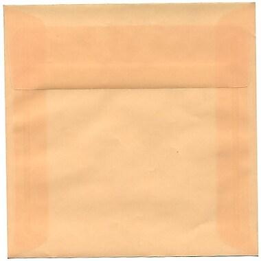 JAM Paper® 6 x 6 Square Envelopes, Spring Ochre Ivory Translucent Vellum, 50/Pack (PACV510I)
