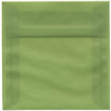 JAM Paper® 6 x 6 Square Envelopes, Leaf Green Translucent Vellum, 250/Pack (PACV513H)