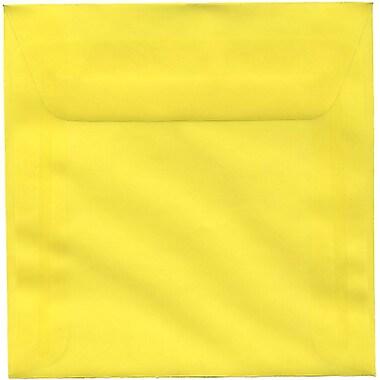 JAM Paper – Enveloppes carrées translucides, jaune primaire, 6 x 6 po, 250/paquet