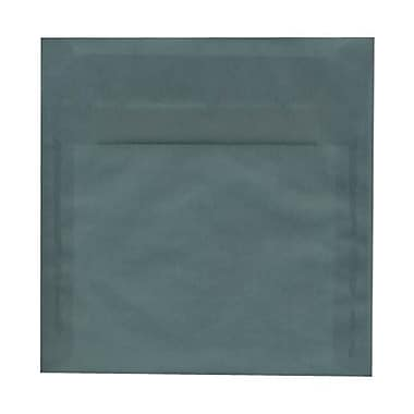 JAM Paper® 8.5 x 8.5 Square Envelopes, Ocean Blue Translucent Vellum, 50/Pack (PACV532I)
