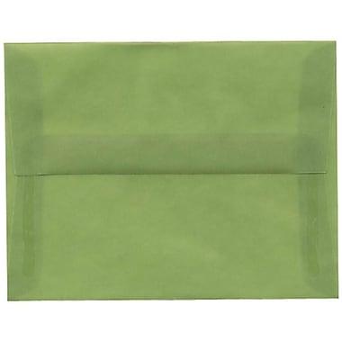 JAM Paper – Enveloppes A2 en papier translucide, vert feuille, 250/paquet