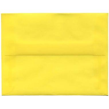 JAM PaperMD – Enveloppes format A2 en papier translucide, jaune primaire, paq./50