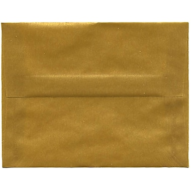 JAM Paper® A2 Invitation Envelopes, 4.38 x 5.75, Gold Translucent Vellum, 250/Pack (PACV617H)