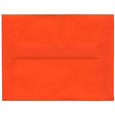 JAM Paper® A2 Invitation Envelopes, 4.38 x 5.75, Orange Translucent Vellum, 50/Pack (PACV619I)