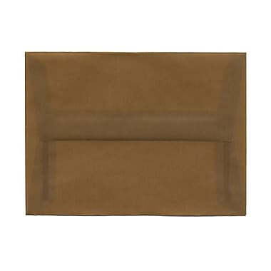 JAM Paper® A6 Invitation Envelopes, 4.75 x 6.5, Earth Brown Translucent Vellum, 250/Pack (PACV651H)