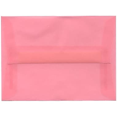 JAM Paper® A6 Invitation Envelopes, 4.75 x 6.5, Blush Pink Translucent Vellum, 250/Pack (PACV663H)
