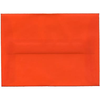 JAM Paper – Enveloppes translucides A6, orange, 250/paquet