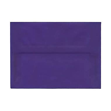 JAM Paper® A7 Invitation Envelopes, 5.25 x 7.25, Purple Translucent Vellum, 250/Pack (PACV707H)
