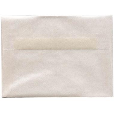 JAM PaperMD – Enveloppes translucides A7, platine, 50/paquet