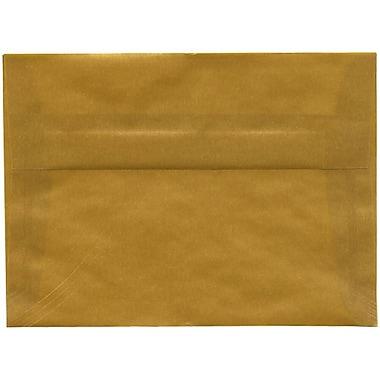 JAM PaperMD – Enveloppes translucides A7, doré, 50/paquet