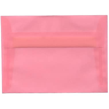 JAM Paper® A7 Invitation Envelopes, 5.25 x 7.25, Blush Pink Translucent Vellum, 250/Pack (PACV718H)