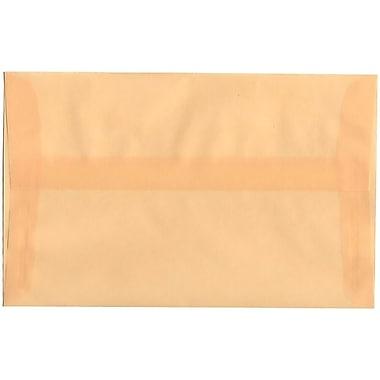 JAM Paper® A10 Invitation Envelopes, 6 x 9.5, Spring Ochre Ivory Translucent Vellum, 50/Pack (PACV850I)