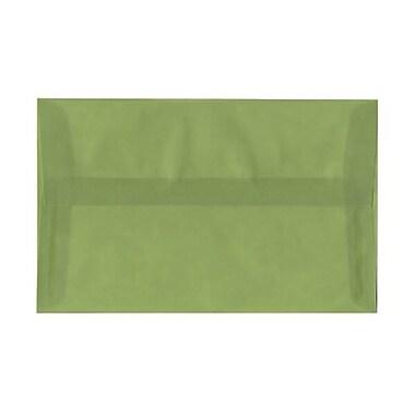 JAM Paper – Enveloppes translucides A10, vert feuille, 50/pqt