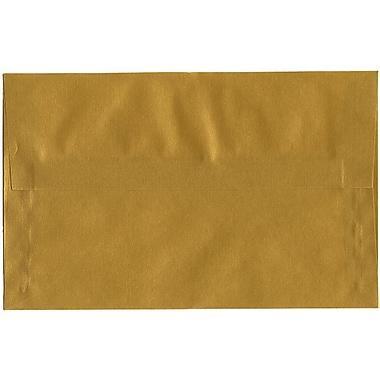 JAM Paper® A10 Invitation Envelopes, 6 x 9.5, Translucent Vellum Gold, 50/Pack (PACV867I)