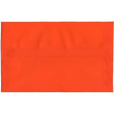 JAM Paper – Enveloppes translucides A10, orange, 250/paquet