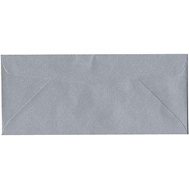 JAM Paper – Enveloppe commerciale Stardream nº 10 (4,13 po x 9,5 po) à effet métallisé, argenté, 500/bte