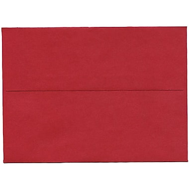 JAM PaperMD – Enveloppe Stardream A7 à effet métallique, rouge Jupiter, 50/paquet