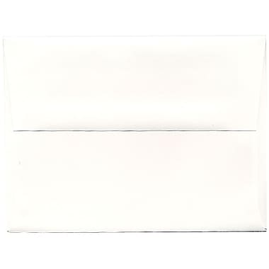 JAM Paper® A6 Invitation Envelopes, 4.75 x 6.5, Strathmore Bright White Wove, 250/Pack (STTW661H)