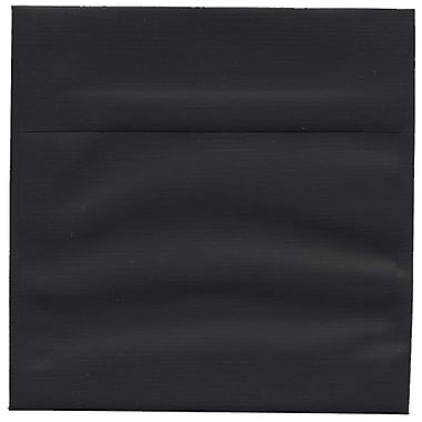 JAM Paper® 6.5 x 6.5 Square Envelopes, Black Linen Recycled , 250/Pack (V01211H)