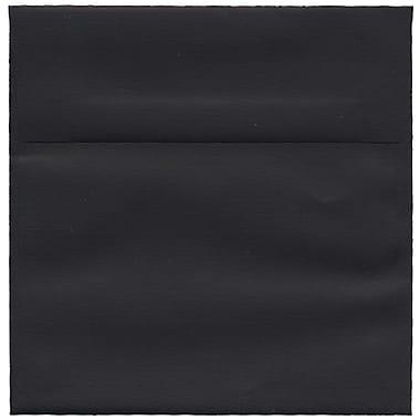 JAM Paper – Enveloppes carrées en papier recyclé toilé, 6 x 6 po, noir, 250/paquet