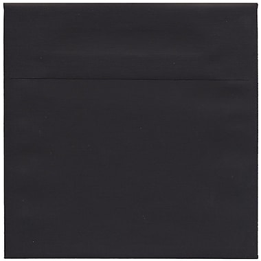 JAM Paper® 7.5 x 7.5 Square Envelopes, Black Linen Recycled , 50/Pack (V01213I)