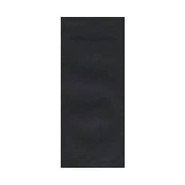 JAM Paper – Enveloppes commerciales nº 10 en papier recyclé (4,13 po x 9,5 po), lin noir, 500/bte