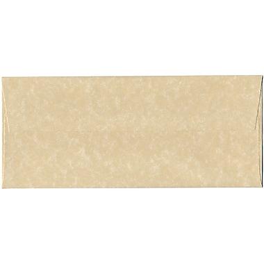 JAM Paper – Enveloppes recyclées n° 10 (4,13 x 9,5 po), papier-parchemin brun, 500/bte