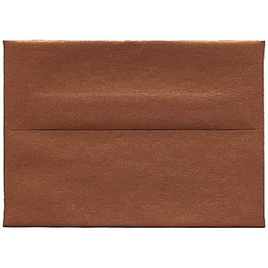 JAM Paper® 4bar A1 Envelopes, 3.63 x 5 1/8, Stardream Metallic Copper, 50/Pack (V018246I)