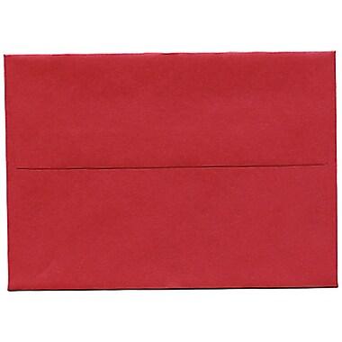 JAM Paper® 4bar A1 Envelopes, 3.63 x 5 1/8, Stardream Metallic Jupiter Red, 50/Pack (V018247I)