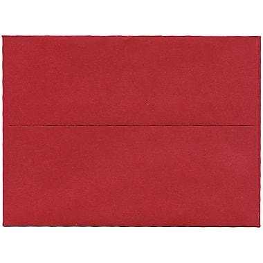 JAM PaperMD – Enveloppe Stardream A6 à effet métallique, rouge Jupiter, 50/pqt