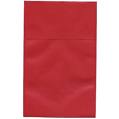 JAM Paper – Enveloppes commerciales Stardream A10 à effet métallisé, rouge Jupiter, 250/paquet