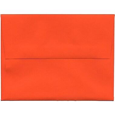 JAM Paper® A2 Invitation Envelopes, 4.38 x 5.75, Brite Hue Orange Recycled, 250/Pack (WDBH602H)