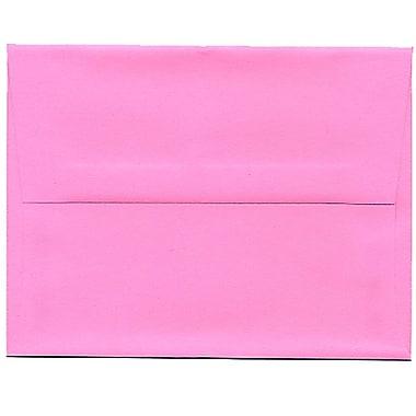 JAM Paper® A2 Invitation Envelopes, 4.38 x 5.75, Brite Hue Ultra Pink, 250/Pack (WDBH607H)