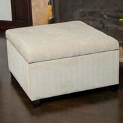 Home Loft Concept Stephon Wheat Tufted Storage Ottoman