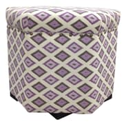Sole Designs Carnival Ottoman; Purple