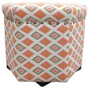 Sole Designs Carnival Ottoman; Orange