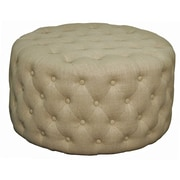 New Pacific Direct Lulu Round Tufted Ottoman
