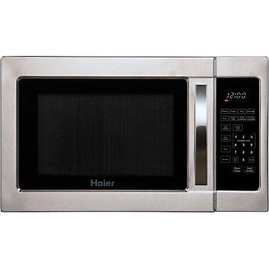 Haier 1 Cu. Ft. 1000W Countertop Microwave in Stainless Steel