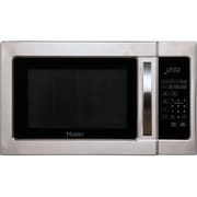 Haier 1 Cu. Ft. 1000W Countertop Microwave in Stainless Steel