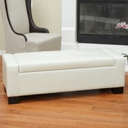 Home Loft Concept Eastport Storage Ottoman; Ivory