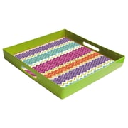 American Atelier French Market Square Serving Tray; Lime / Striped
