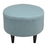 Sole Designs Sophia Round Ottoman; Candice Bay Blue
