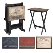 Cape Craftsmen Tuscan Wine TV Tray w/ Stand (Set of 4)
