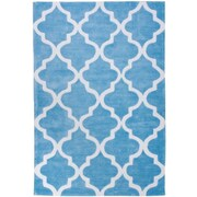 Well Woven Mirage Lattice Light Blue Area Rug; 5' x 7'6''