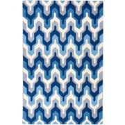 Well Woven Everest Lattice Navy & White Area Rug; 5' x 7'6''