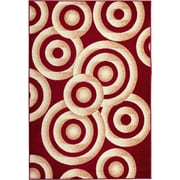 Well Woven Miami Sunshine Circles Red/Gold Area Rug; 5' x 7'