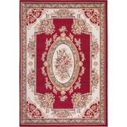Well Woven Miami Medallion Centre Red Area Rug; 5' x 7'